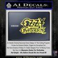 Ozzy OzbourneTXTS Decal Sticker Yelllow Vinyl 120x120