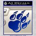 Paw Shadow Decal Sticker Blue Vinyl 120x120