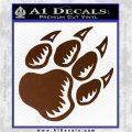 Paw Shadow Decal Sticker Brown Vinyl 120x120