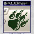 Paw Shadow Decal Sticker Dark Green Vinyl 120x120