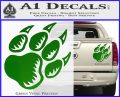 Paw Shadow Decal Sticker Green Vinyl 120x97