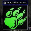 Paw Shadow Decal Sticker Lime Green Vinyl 120x120