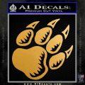 Paw Shadow Decal Sticker Metallic Gold Vinyl 120x120