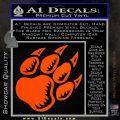 Paw Shadow Decal Sticker Orange Vinyl Emblem 120x120