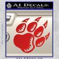 Paw Shadow Decal Sticker Red Vinyl 120x120