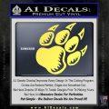 Paw Shadow Decal Sticker Yelllow Vinyl 120x120