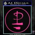 Pink Floyd CR Decal Sticker Hot Pink Vinyl 120x120