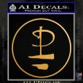 Pink Floyd CR Decal Sticker Metallic Gold Vinyl 120x120