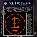 Pink Floyd CR Decal Sticker Orange Vinyl Emblem 120x120