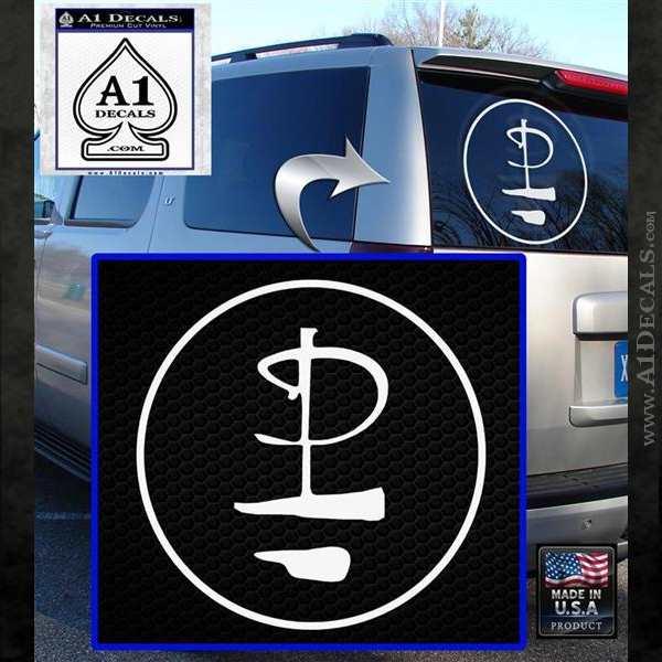 Pink Floyd CR Decal Sticker White Emblem