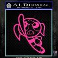 Poweruff Girl Decal Sticker Bubbles Hot Pink Vinyl 120x120