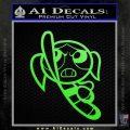 Poweruff Girl Decal Sticker Bubbles Lime Green Vinyl 120x120