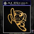 Poweruff Girl Decal Sticker Bubbles Metallic Gold Vinyl 120x120