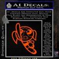 Poweruff Girl Decal Sticker Bubbles Orange Vinyl Emblem 120x120