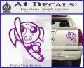 Poweruff Girl Decal Sticker Bubbles Purple Vinyl 120x97