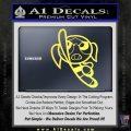 Poweruff Girl Decal Sticker Bubbles Yelllow Vinyl 120x120