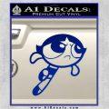 Poweruff Girl Decal Sticker Buttercup Blue Vinyl 120x120