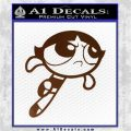 Poweruff Girl Decal Sticker Buttercup Brown Vinyl 120x120