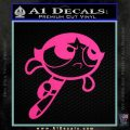 Poweruff Girl Decal Sticker Buttercup Hot Pink Vinyl 120x120