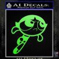Poweruff Girl Decal Sticker Buttercup Lime Green Vinyl 120x120