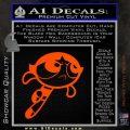 Poweruff Girl Decal Sticker Buttercup Orange Vinyl Emblem 120x120
