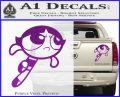 Poweruff Girl Decal Sticker Buttercup Purple Vinyl 120x97