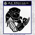 Predator Head Profile DLB Decal Sticker Black Logo Emblem 120x120