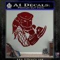 Predator Head Profile DLB Decal Sticker Dark Red Vinyl 120x120