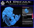 Predator Head Profile DLB Decal Sticker Light Blue Vinyl 120x97