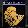 Predator Head Profile DLB Decal Sticker Metallic Gold Vinyl 120x120
