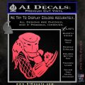 Predator Head Profile DLB Decal Sticker Pink Vinyl Emblem 120x120