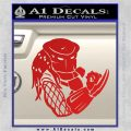 Predator Head Profile DLB Decal Sticker Red Vinyl 120x120