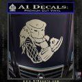 Predator Head Profile DLB Decal Sticker Silver Vinyl 120x120