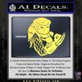 Predator Head Profile DLB Decal Sticker Yelllow Vinyl 120x120
