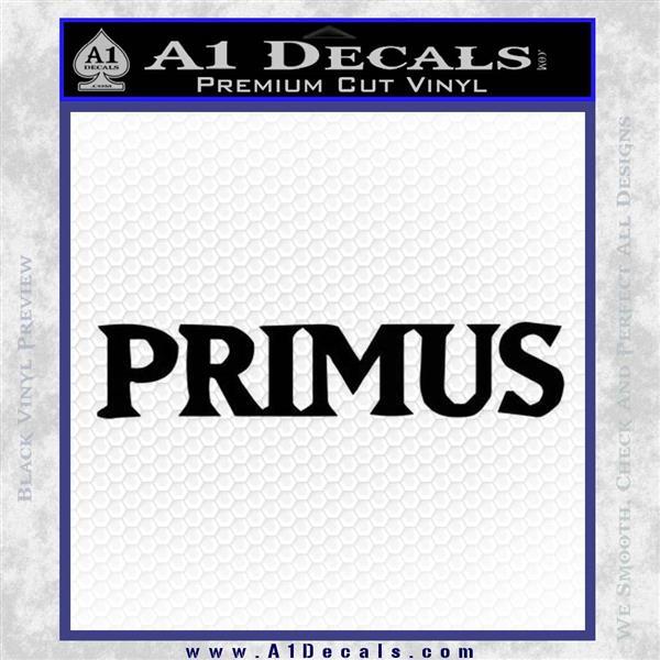 Primus Rock Band Vinyl Decal Sticker Black Logo Emblem