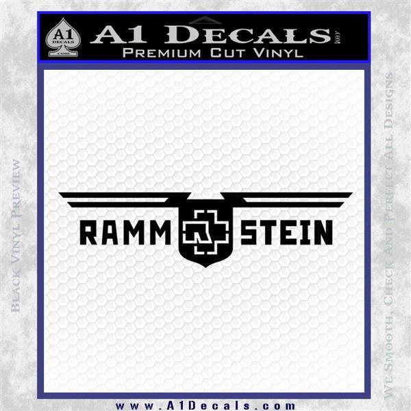 Rammstein Decal Sticker Black Logo Emblem