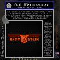 Rammstein Decal Sticker Orange Vinyl Emblem 120x120