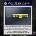 Rammstein Decal Sticker Yelllow Vinyl 120x120
