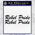 Rebel Pride 2pk Decal Sticker Confederate Black Logo Emblem 120x120