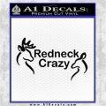 Redneck Crazy Buck Doe Decal Sticker Black Logo Emblem 120x120