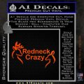 Redneck Crazy Buck Doe Decal Sticker Orange Vinyl Emblem 120x120
