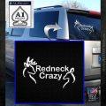 Redneck Crazy Buck Doe Decal Sticker White Emblem 120x120