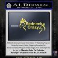 Redneck Crazy Buck Doe Decal Sticker Yelllow Vinyl 120x120