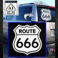 Route 666 Decal Sticker White Emblem 120x120