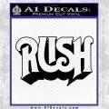 Rush Decal Sticker Black Logo Emblem 120x120