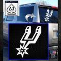 San Antonio Spurs Decal Sticker SO White Emblem 120x120