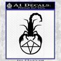 Scorpion Pentagram Decal Sticker Black Logo Emblem 120x120