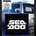 Sea Doo Logo Stacked Decal Sticker White Emblem 120x120