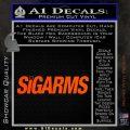 Sigarms Sig Sauer Decal Sticker Orange Vinyl Emblem 120x120
