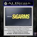 Sigarms Sig Sauer Decal Sticker Yelllow Vinyl 120x120